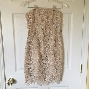 NWOT Adriana Papell Lace Cocktail Dress